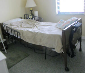 Invacare Full Electric Hospital Bed And Rails Mattress