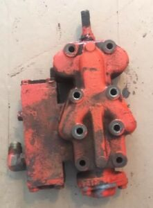 Vintage Ji Case 210 B Tractor Hydraulic Valve Outlet Block 1958