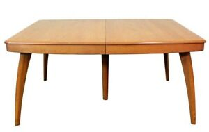 Mid Century Modern Heywood Wakefield Champagne Extension Dining Table