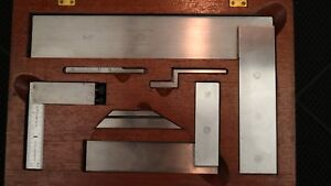 Nice Starrett Machinist Square Set No 20 6 3 453e Die Makers Square