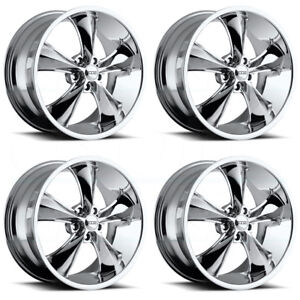 4 New 17 Foose Legend F105 Wheels 17x9 5x4 5 7 Chrome Rims