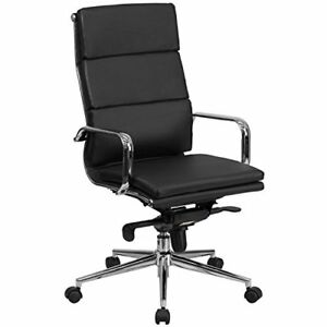 Flash Furniture High Back Black Leather Executive Swivel Chair With Synchro tilt