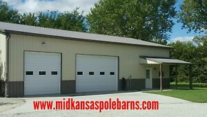 Pole Barn Kit 40x80x14 With Steel Trusses