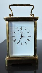 Vintage Matthew Norman Repeater Carriage Clock Swiss Made Mvmt Key Included