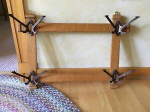 Antique Arts Crafts Wall Rack Coat Hanger Hall Tree W O Mirror