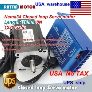 usa nema34 8n m Closed loop Hss86 2 phase Hybrid Stepper Motor Servo Driver Cnc