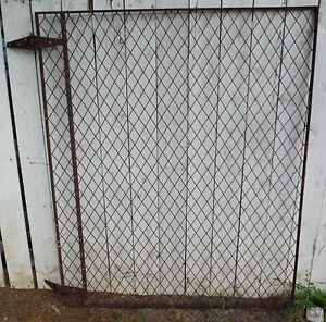 Rustic Vintage Gate 60 X 49 Great For Garden Yard Animal Pen With Hinges