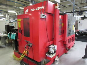 Matsuura Es 450h Cnc Horizontal Machining Center Fanuc 18im Chip Conveyor