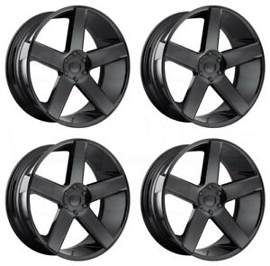 4 New 30 Dub Baller S216 Wheels 30x10 5x5 5x127 10 Gloss Black Rims