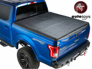 Atu 2015 2019 Ford F 150 5 5 Ft Bed Black Hard Tri Fold Tonneau Cover