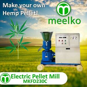 Pellet Mill 11kw Electric Engine Pellet hemp
