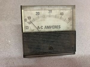 New No Box Square D 0 50 Amp Panel Meter 63090 113 07 0001