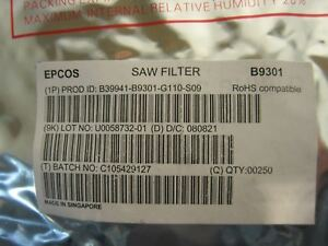 Epcos Saw Filter B9301 Chipset Quantity 250