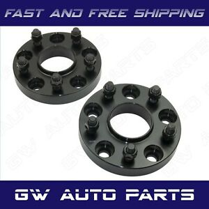 2 Black 15mm Hub Centric Wheel Spacer 5x120 Cb 66 9mm 14x15 Fit Camaro Cts
