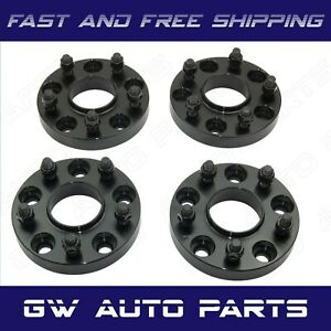 4 Black 15mm Hub Centric Wheel Spacer 5x120 Cb 66 9mm 14x15 Fit Camaro Cts
