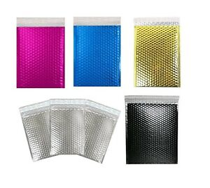 Any Size Metallic Bubble Mailers Poly Design Padded Shipping Envelopes Bags Seal