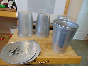 3 Maple Syrup Aluminum Sap Buckets Lids Covers Taps Spiles 1247