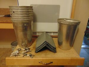 10 Maple Syrup Aluminum Sap Buckets Lids Covers Taps Spiles 1147