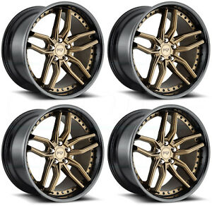 4 New 20 Niche Methos M195 Wheels 20x9 5x120 35 Bronze Black Rims