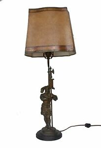 Antique Spanish Knight Table Lamp