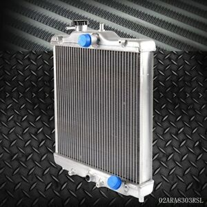 3 Row 52mm Aluminum Radiator For Honda Civic Ek Eg D15 D16 Sohc Del Sol 92 00