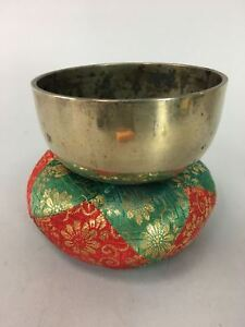Japanese Buddhist Altar Fitting Vtg Orin Bell Brass Singing Bowl Striker B620