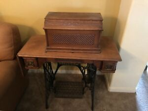 Antique Singer Coffin Top Treadle Sewing Machine 11901568 1894 Year Produced