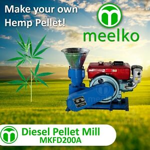 Pellet Mill 15hp Diesel Engine Pellet In Stocked Usa hemp