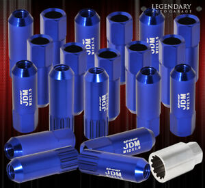 For Eagle M12x1 5 Locking Lug Nuts Wheels Extended Aluminum 20 Pieces Set Blue