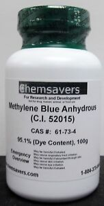 Methylene Blue Anhydrous c i 52015 95 1 dye Content 100g
