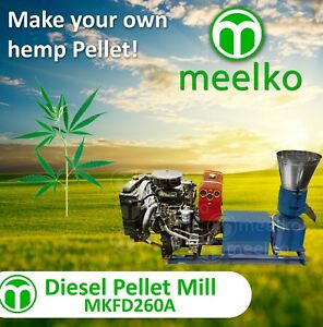 Pellet Mill 35hp Diesel Engine Pellet hemp