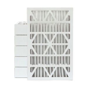 16x25x4 Merv 13 Pleated Ac Furnace Air Filters 6 Pack actual Depth 3 3 4