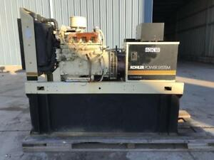 __40 Kw Kohler Generator Set Base Fuel Tank Skid Mounted John Deere Engine