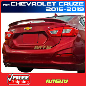 Painted Abs Rear Trunk Spoiler Red Hot Wa130x For Chevrolet Cruze 2016 2019