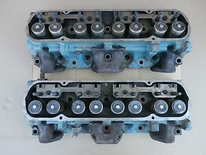 1972 7j2 Pontiac Cylinder Heads 400 96cc Pair Firebird Ventura V8 Engine Oem Gm