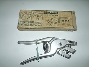 Vintage Cattle Ear Punch Tool Id Tag Punch Tool