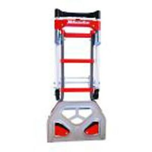Milwaukee Hand Truck Convertible Marking Wheels Fold Up Nose Plate 2 In 1 Non
