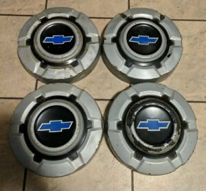 Vintage Set Of Four 1969 77 Chevrolet Truck Dog Dish Type Hubcaps 10