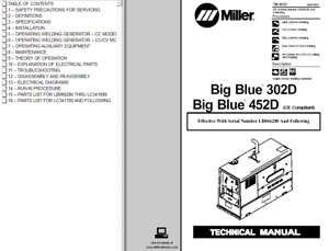 Miller Big Blue 302d 452d Ce Compliant Technical Manual