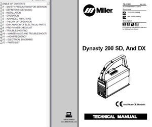 Miller Dynasty 200 Sd And Dx Service Technical Manual