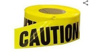 Yellow Caution Tape Resinet Ct2m31000 Case Of 8 Rolls 3 X 1000 Ft
