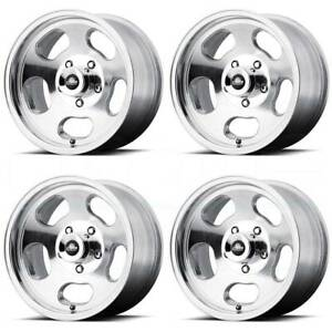 4 New 15 American Racing Vn69 Ansen Sprint Wheels 15x7 4x108 0 Polished Rims