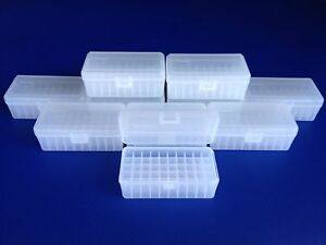 10 pack of 50 round plastic ammo boxesMP-50 med. pistol 38 Special 357 Magnum
