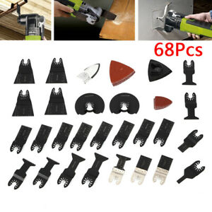 68pcs Oscillating Multi Tool Saw Blades Kit For Bosch Fein Makita Multitool New