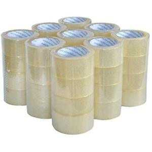 Sealing Clear Packing shipping box Tape 12 Rolls Carton