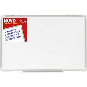 Dry Erase Board 24x36 Large Magnetic Whiteboard With Aluminum Frame Dryerase For