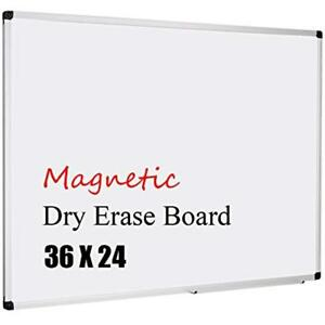 Magnetic 36x24 inch Dry Erase Aluminum Framed Whiteboard With Detachable Marker