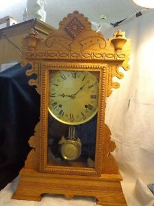 Sale Antique Ca1895 Lake Series No 6 Wm Gilbert Clock Co Winsted Conn Works