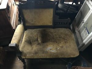 Vintage Victorian Settee Love Seat Sofa Chair
