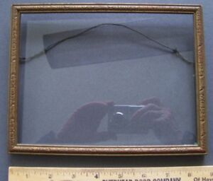 1920 S Vintage Pressed Design Wood Frame With Glass 6 25 X 8